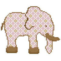 Baby Girl Elephant - A set of three Cross Stitch Patterns in PDF - INSTANT DOWNLOAD