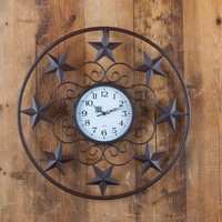 Western Stars Wall Clock - Home Decor - Home