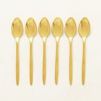 Doma Coffee Spoons by Anthropologie in Gold Size: Set Of 6 Kitchen