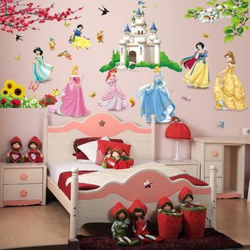 Girl Room Decoration Castle Princess Wall Stickers