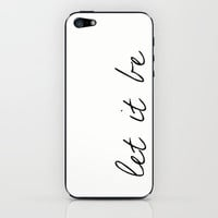 Let It Be, The Beatles iPhone & iPod Skin by gabsnisen | Society6
