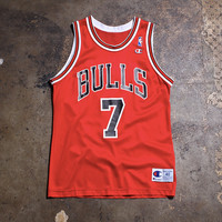 Toni Kukoc Chicago Bulls Champion Basketball Jersey Red (40 - Medium)