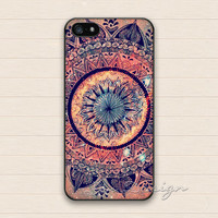 Mandala iPhone 5 Case,iPhone 5s Case,iPhone 4 4s Case,Samsung Galaxy S3 S4 Case,Minority Totem Floral Flower Hard Plastic Rubber Cover Case