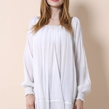 Bliss of Free White Oversized Top