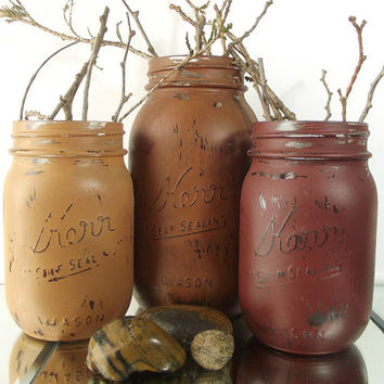 Autumn Decor, Mason Jar Centerpieces, Thanksgiving Decor, Fall Decor, Autumn Decorations, Rustic Home Decor, Country Home Decor