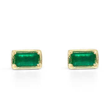 Leone Emerald Earrings - Earrings - Catbird