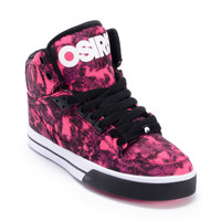 Osiris Girls NYC 83 Vulc Black, Pink & White Shoe