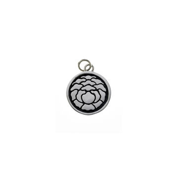 Ceremonial Kamon Sterling Silver March Tree Peony Charm