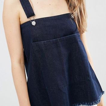 Waven Elise Overall Top with Raw Hem at asos.com
