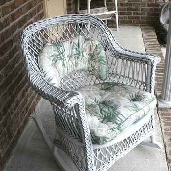 Vintage Wicker Rocking Chair, Vintage Rocker, Vintage Wicker, White Wicker, ON SALE , For Pick Up Only