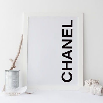 COCO CHANEL print, printable art poster, coco chanel art, poster art, typography print, print poster, wall art, typography quote