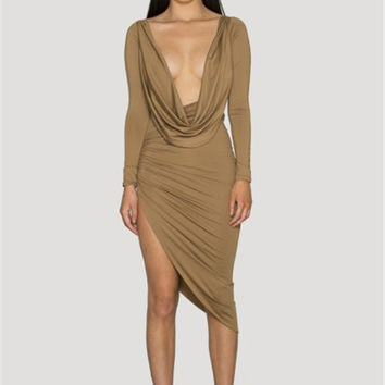 Deep Plunge V-Neck Dress