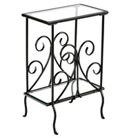 Southern Enterprises Contemporary Scroll Magazine Table