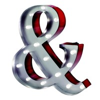 Ampersand LED Marquee Sign Wall Decor (&Amp;)