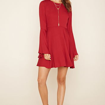 Tie-Neck Mini Dress