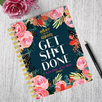 Get Shit Done Medium Academic Weekly/Monthly Planner