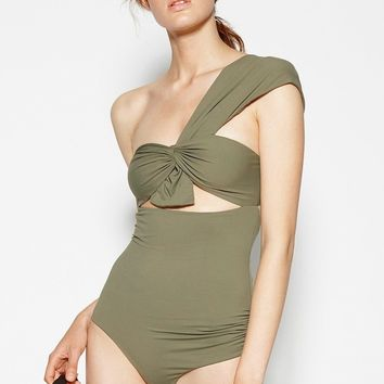 One Shoulder One-Piece Swimsuit bathing suit