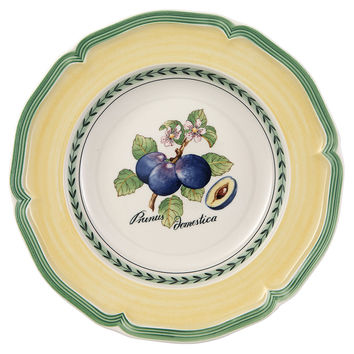 French Garden Rimmed Soup Bowl, Plum, Bowls