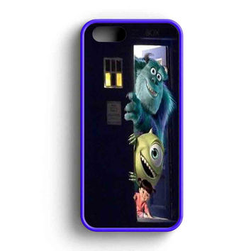 Sully Mike And Boo In The Tardis Monsters Inc  iPhone 5 Case iPhone 5s Case iPhone 5c Case