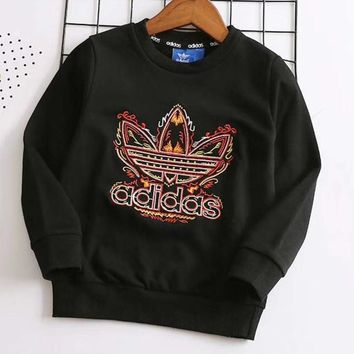 Adidas Girls Boys Children Baby Toddler Kids Child Fashion Casual Top Sweater Pullover