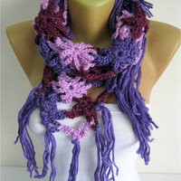 NEW-Crochet shawl scarf,-winter Neck Warmer,women scarves, long cozy scarf shawl-Fashion accessories-christmas gift for her-scarves