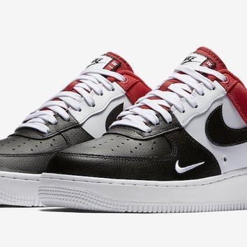 qiyif Nike Air Force 1 Low Mini Swoosh Red, Black & White