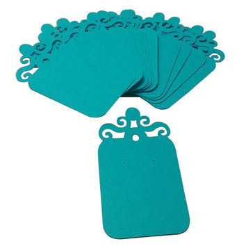 Earring Display Cards - Imperial, Turquoise Blue Color Heavy Cardstock (15)