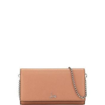 Christian Louboutin Boudoir Leather Wallet-on-Chain