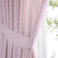 Pink Heart Curtains