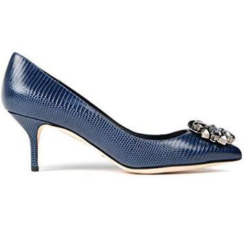 Dolce & Gabbana Women's Fashion Pumps Blue EU 38,5 (US 8,5) / EU 40 (US 10)