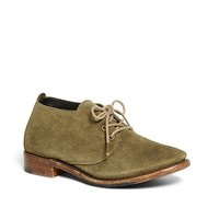 Women's Olive Green Suede Lace-Up Shoes | Brooks Brothers