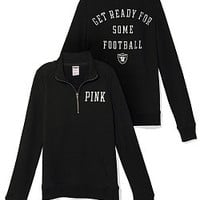 Oakland Raiders Half-Zip Pullover - PINK - Victoria's Secret