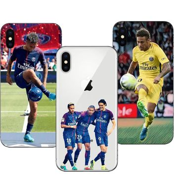 French Paris Saint Germain PSG Phone Case for iPhone 5 5S SE 6 6S Plus 7 8Plus Neymar jr Ultra Thin Soft TPU Cover For iPhone X
