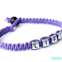 Lavender Lift Bracelet, Jewelry for Fitness Motivation, Weight Loss Journey, Fitness Gift