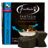 Fantasia Air-Flow Natural Coconut Hookah Coals at Hookah Company