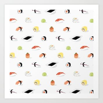 SUSHI Art Print by laP sciop