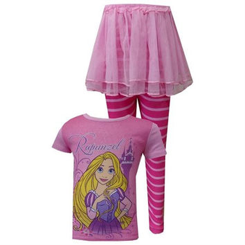 Disney Tangled Rapunzel Cotton Toddler Pajama With Tutu