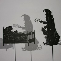 The Sandman / Laser cut Shadow Puppets by IsabellasArt on Etsy