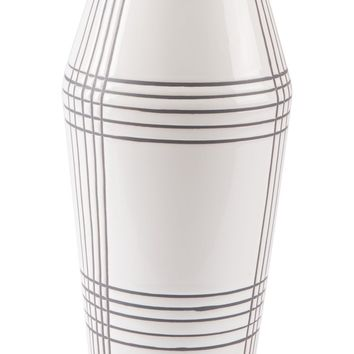 Ona Vase Md White & Black