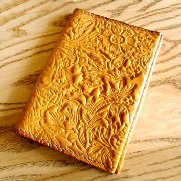 Passport cover Leather, passport holder, passport wallet, passport case, handmade cover, gift passport cover, Flower Pattern