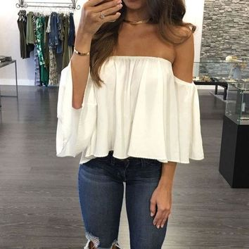 DCCK7XP Chiffon Kimono Blusas Feminina Sexy Off Shoulder Women Blouses Casual Shirt Plus Size Camisas Mujer Half Sleeve Ladies Tops