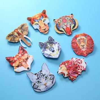 Hot Sell Animal Acrylic Badges Creative Cartoon Backpack Badge Charm Brooch Button Pins Denim Jacket Pin Badge Jewelry Gifts New