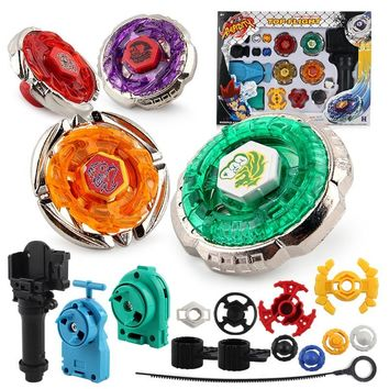 Original Package 1Set Beyblade Metal Fusion 4D Launcher Beyblade Spinning Top Set Kids Game Toys Children Christmas Toys Gift