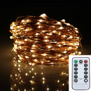 20M 200LED 8Modes Copper Wire Battery Operated Led String Light Chrismas Outdoor Fairy Lights Decoration Wedding Garland