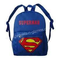 Superman Backpack Kid Canvas School Bag Free Shipping $22.99  Gadgets-N-Gizmos.com