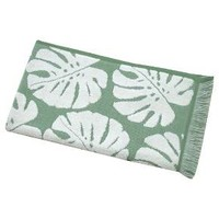 "Palm Leaf Hand Towel - Cream/Green - 16"" X 27"" - Threshold™ : Target"