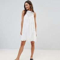 The English Factory Crochet Bib Shift Dress at asos.com