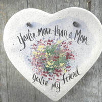 Mother's Day Heart Salt Dough Ornament / Mothers Day / Birthday for Mom