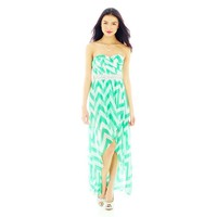 jcpenney - Chevron Print Strapless High-Low Dress - jcpenney