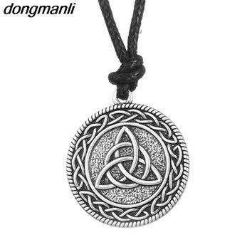 P219 dongmanli Classic Viking Jewelry Men's Irish Celtics Knot Pendant Necklace Male Jewlery Amulet